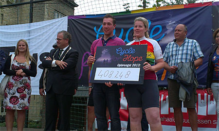 Fietsevenement Cycle for Hope groot succes