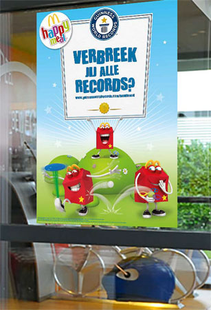 Happy Meal Guinness World Records bij McDonald's Dordrecht